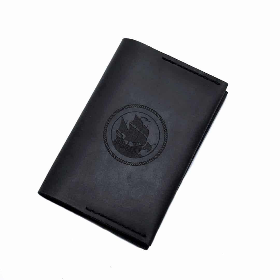 Обложка для паспорта черная