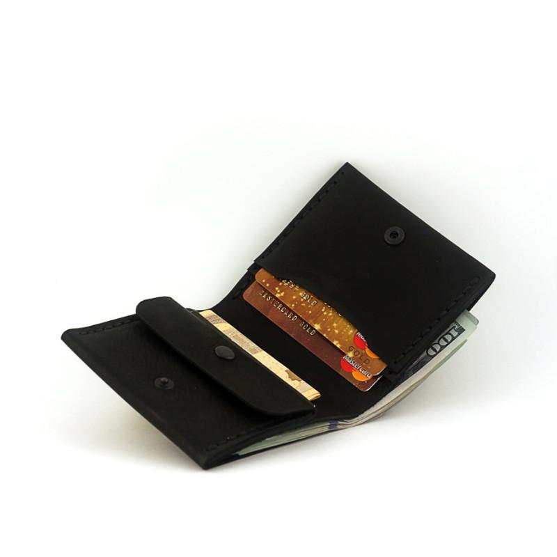 Мужской кошелёк с отделением для монет - чёрный
