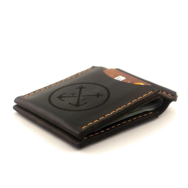 b2fd81b7680 Зажим для денег / купюр из натуральной кожи OldSalt — Whiskey
