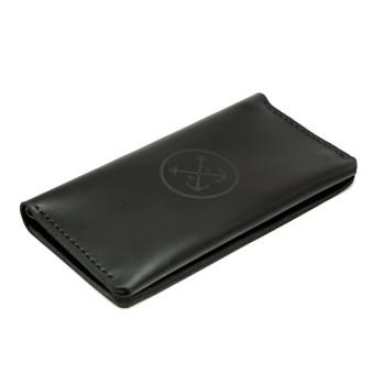 Мужское кожаное портмоне T-Case — чёрный