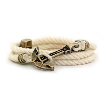 Браслет с Якорем MARITIME - Ivory Rope