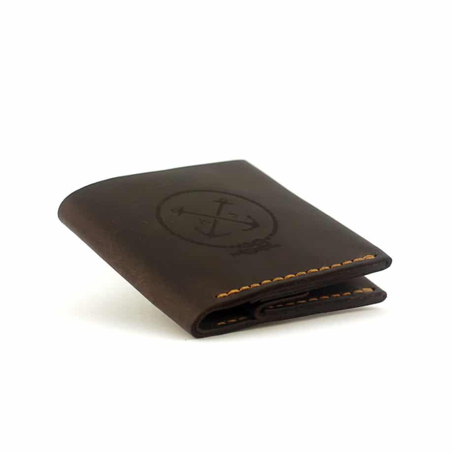 Мужской кошелёк с отделением для монет - коричневый