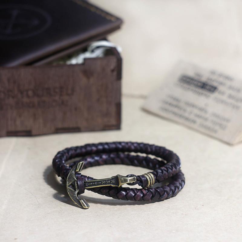Кожаный браслет из подарочного набора Triplet