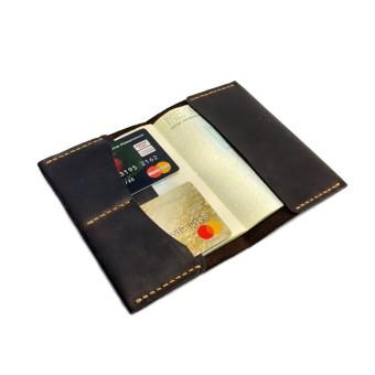Обложка на паспорт (докхолдер) коричневый