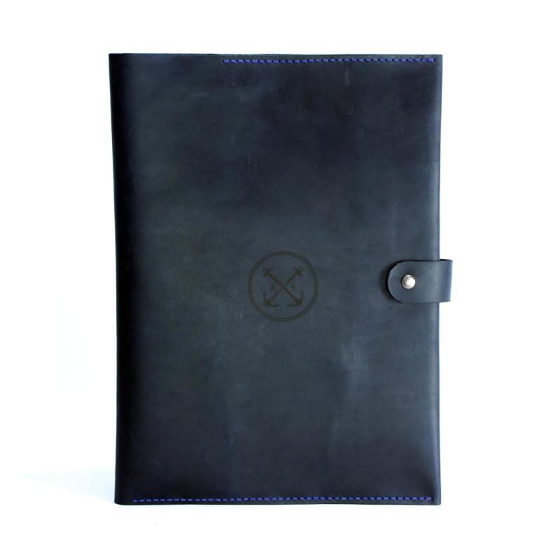 Папка для морских документов, папка моряка темно-синияя