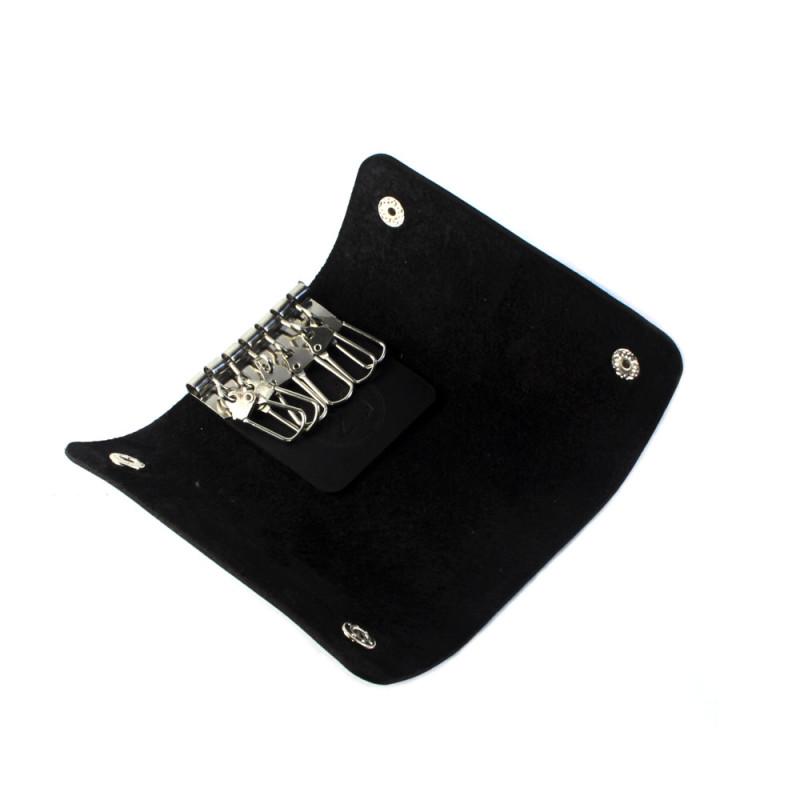 Чехол для ключей (Кожаная ключница) - чёрная