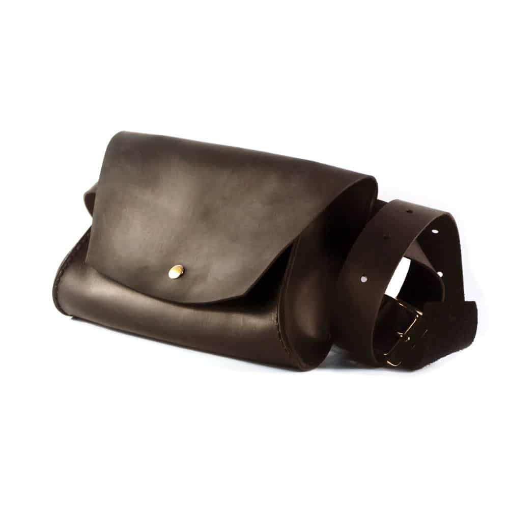 74be3ea9ae47 Женская кожаная сумка на пояс (Поясная) - коричневая | Anchor Stuff ...