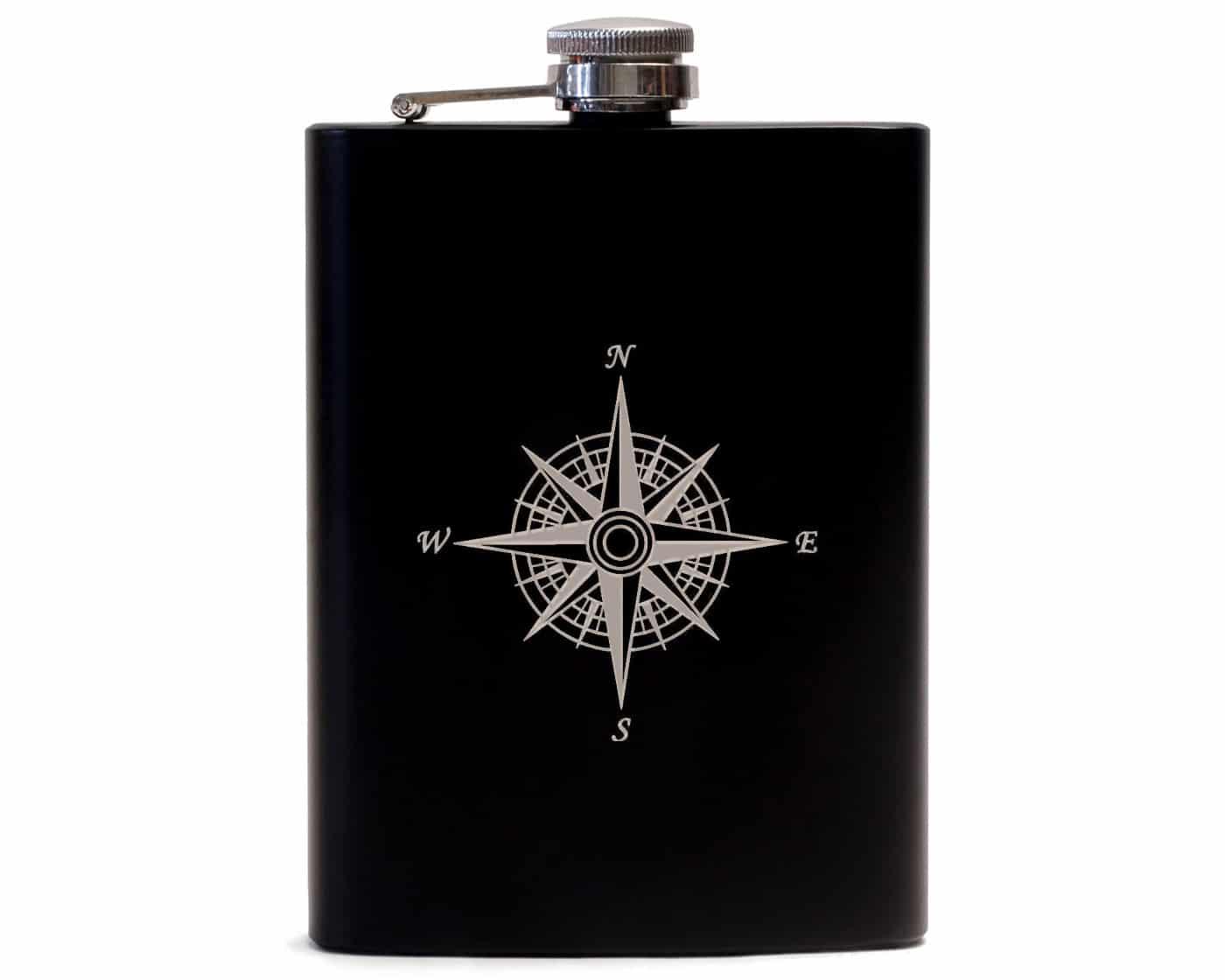 Flask Wind Rose - Black