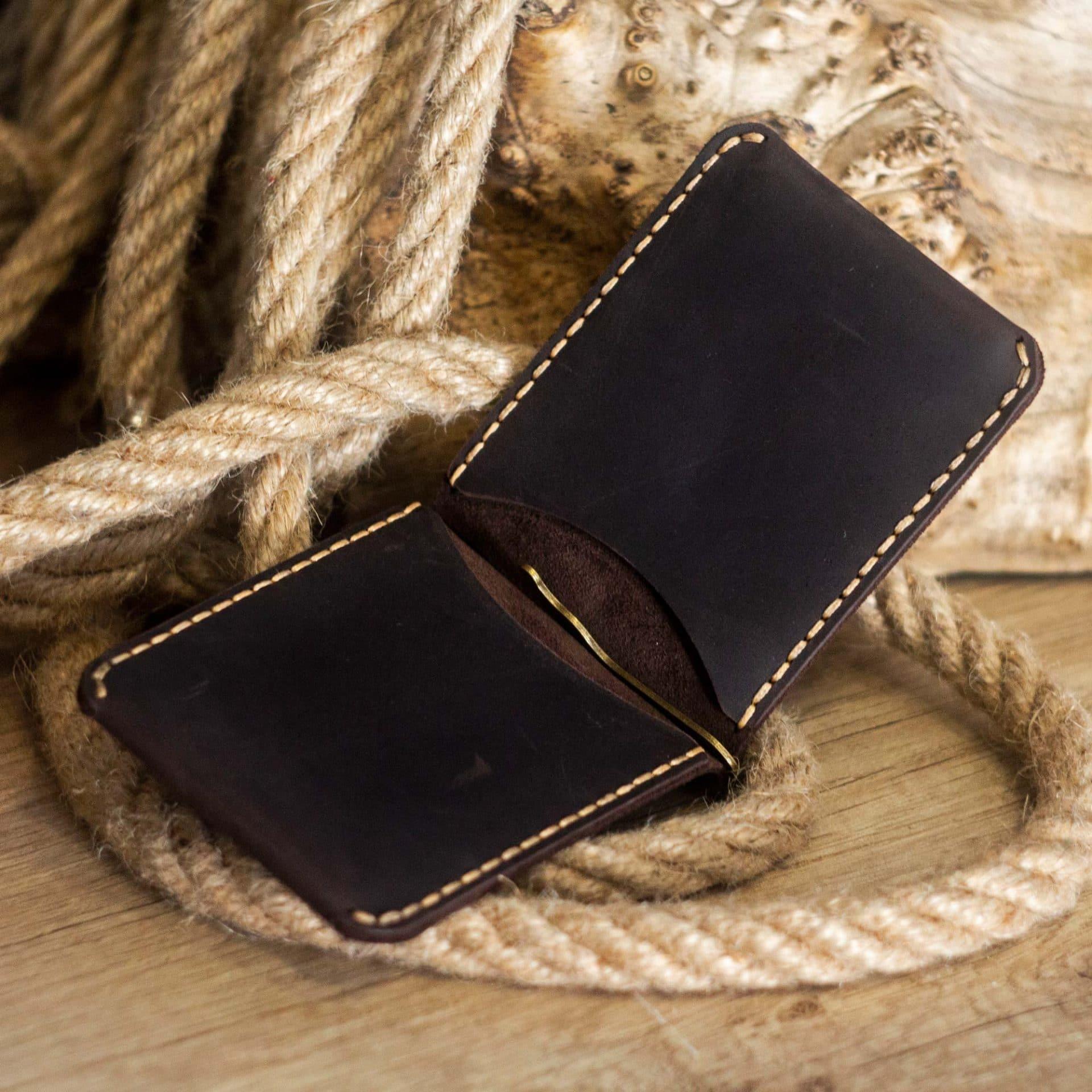 Leather Wallet OldSalt Mini - Brown