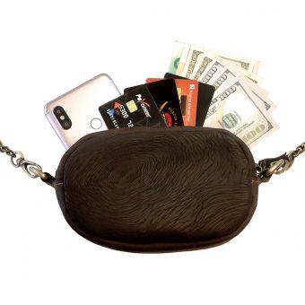 Кожаная женская сумка - трансформер Brown