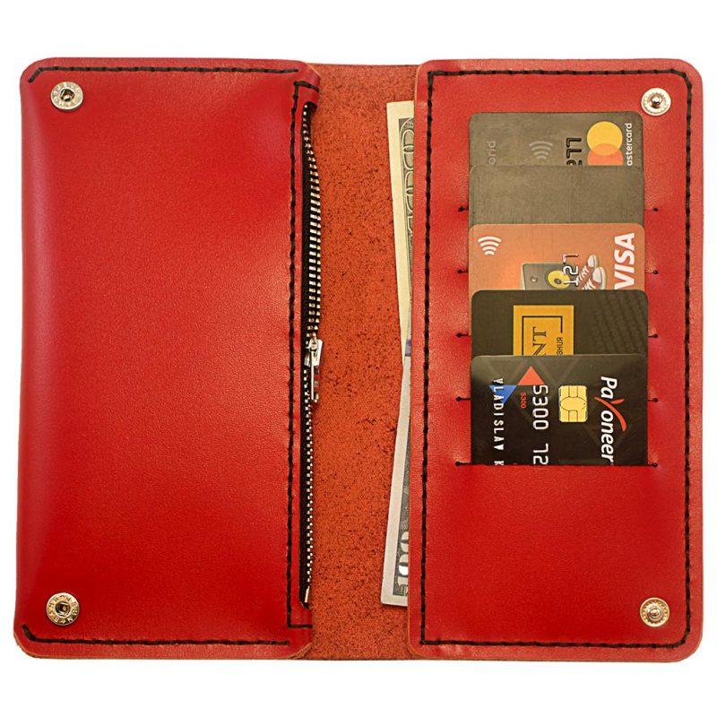 Женское портмоне-клатч T-Case — Red