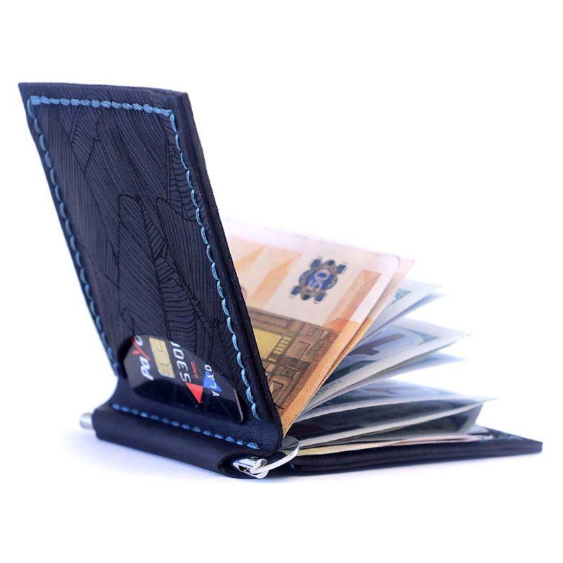 Зажим для денег AS Fern (два отделения для карт)- темно-синий 2