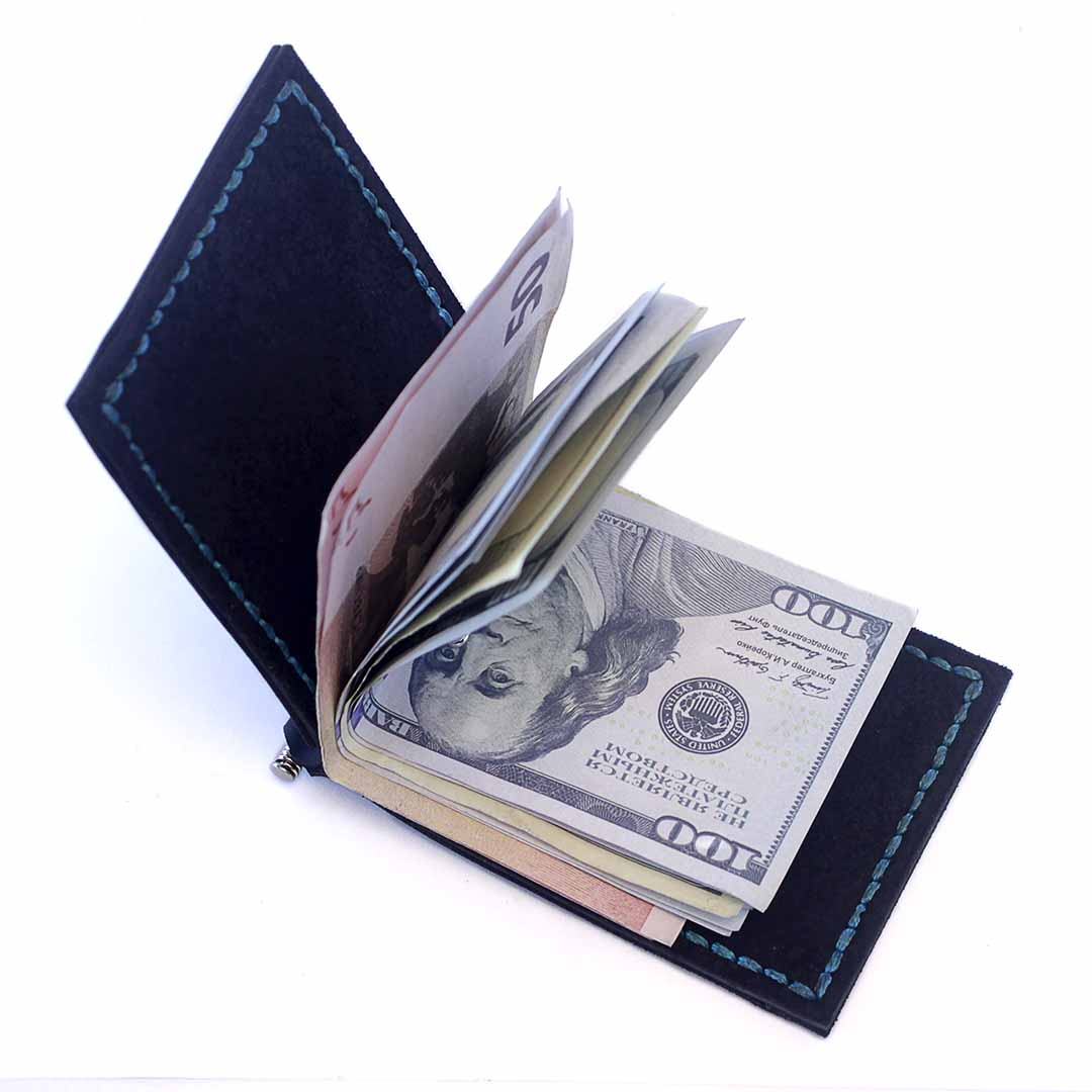 Зажим для денег AS Fern (два отделения для карт)- темно-синий 3
