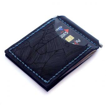Зажим для денег AS Fern (два отделения для карт)- темно-синий